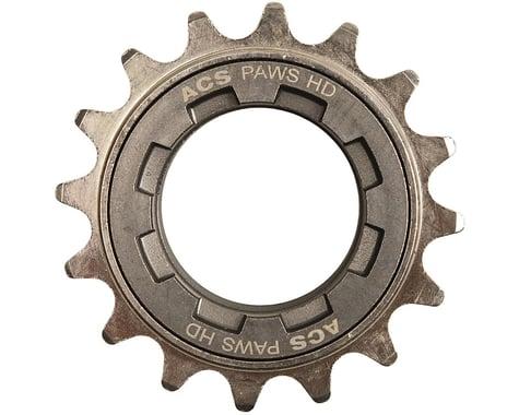 """ACS PAWS HD Freewheel: 18t, 3/32"""", Gun Metal"""
