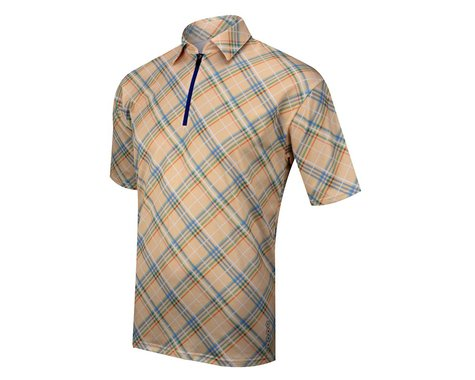 Alexander Julian Argyle Plaid Short Sleeve Jersey (Yellow Plaid)
