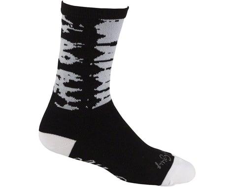 All-City Darker Wave Socks (Black/Blue) (L/XL)