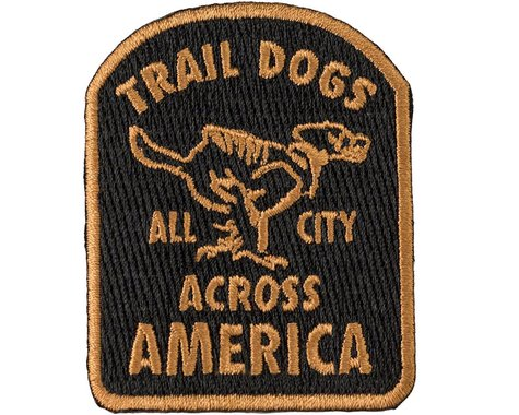 All-City Trail Dogs Patch (Black/Brown)