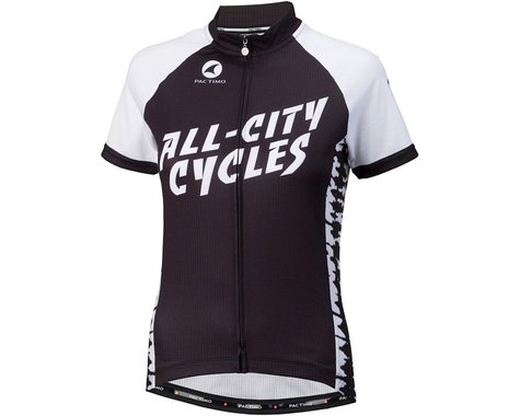 All-City Wangaaa! Women's Cycling Jersey (Black/White) (XL)