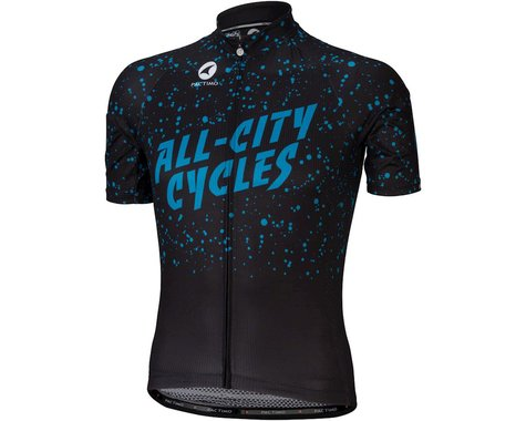 All-City Electric Boogaloo Men's Jersey (Black/Blue) (XS)