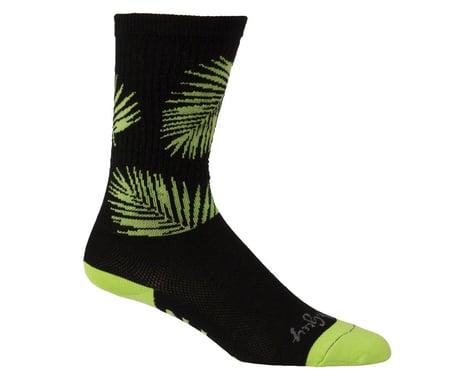 """All-City Key West Carl 8"""" Tall Sock (Black/Green) (S/M)"""