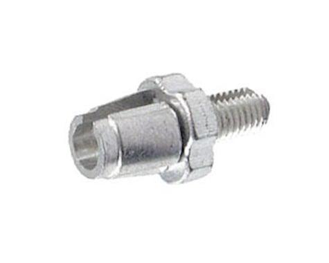 Alligator Barrel Adjuster with Nut, (7mm) Silver - 10/Bottle (7mm)