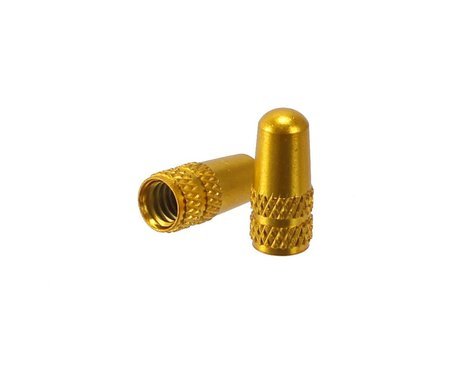 Alligator Alloy Presta Valve Caps (Gold) (2)