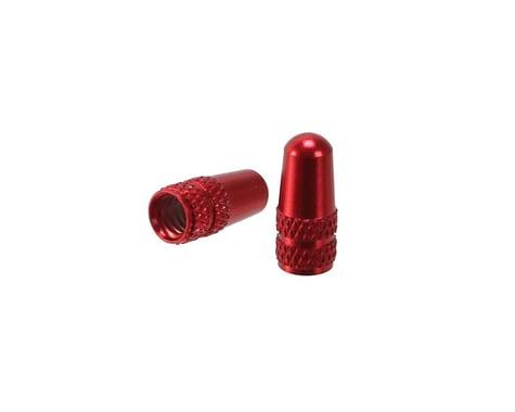Alligator Alloy Presta Valve Cap (Red) (Pair)