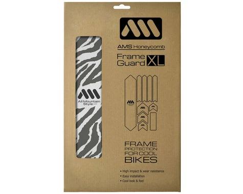 All Mountain Style Honeycomb Frame Guard XL (Grey) (Zebra)