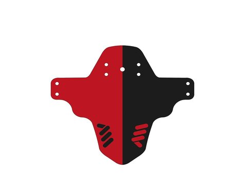 All Mountain Style Mud Guard (Red/Black)