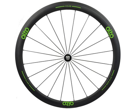 Alto Wheels CC40 Carbon Front Clincher Road Wheel (Green)