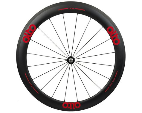 Alto Wheels CC56 Carbon Front Clincher Road Wheel (Red)