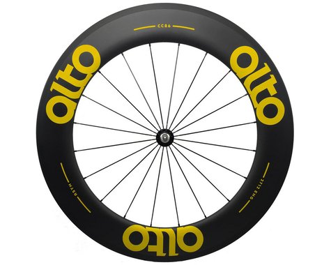 Alto Wheels CC86 Carbon Front Clincher Road Wheel (Yellow)