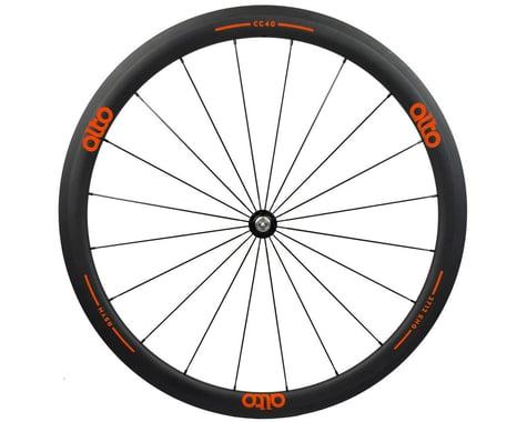 Alto Wheels CT40 Carbon Front Road Tubular Wheel (Orange)