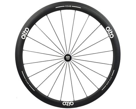 Alto Wheels CT40 Carbon Front Road Tubular Wheel (White)