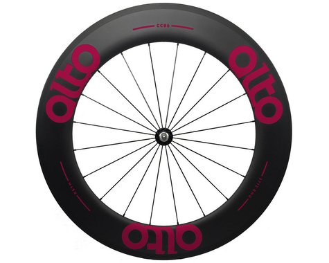 Alto Wheels CT86 Carbon Front Road Tubular Wheel (Pink)