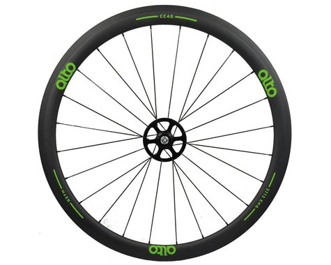 Alto Wheels CT40 Carbon Rear Road Tubular Wheel (Green)