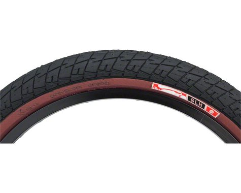Animal GLH Tire - 20 x 2.25, Clincher, Wire, Black/Maroon, 60tpi
