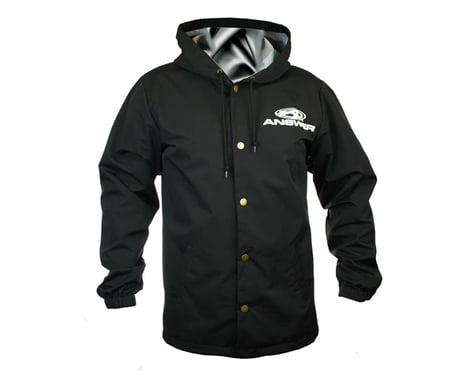 Answer Hooded Windbreaker (Black) (Button Up) (3XL)