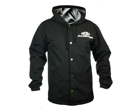 Answer Hooded Windbreaker (Black) (Button Up) (M)