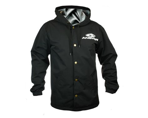 Answer Hooded Windbreaker (Black) (Button Up) (S)