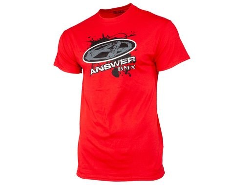 Answer Short Sleeve T-Shirt (Red) (L)