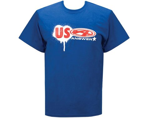 Answer USA T-Shirt (Blue) (XL)