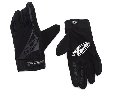 Answer Full Finger BMX Gloves (Black) (XL)