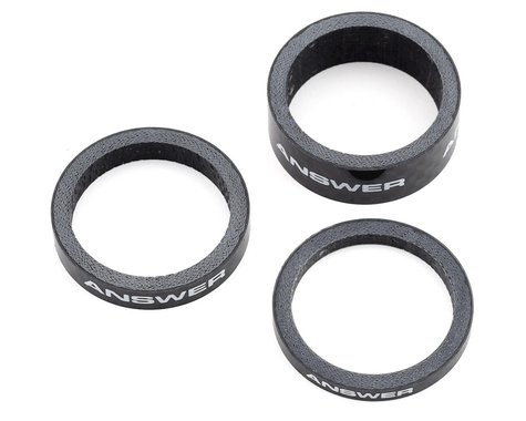 "Answer Carbon Spacer (Black) (3 Pack) (1"")"