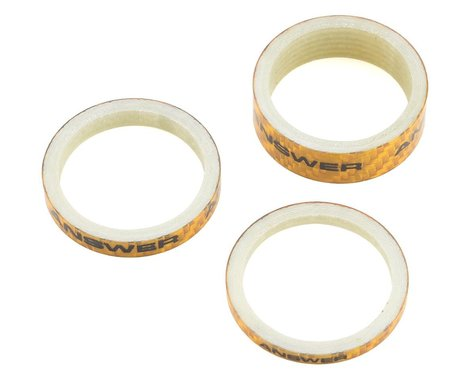 """Answer Carbon Spacer (Gold) (3 Pack) (1-1/8"""")"""