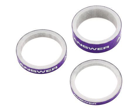 "Answer Carbon Spacer (Purple) (3 Pack) (1-1/8"")"