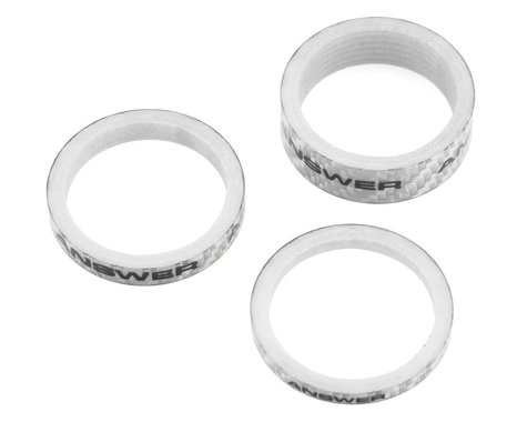 "Answer Carbon Spacer (Silver) (3 Pack) (1-1/8"")"