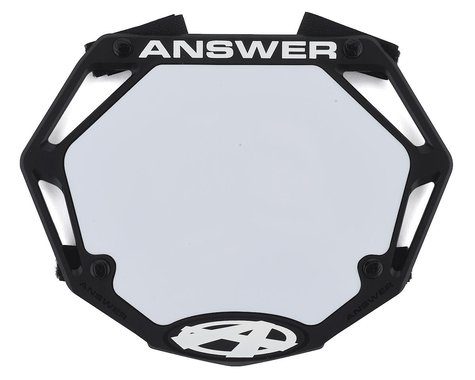 Answer 3D BMX Number Plate (Black) (Mini)