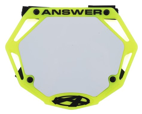 Answer 3D BMX Number Plate (Flo Yellow) (Mini)