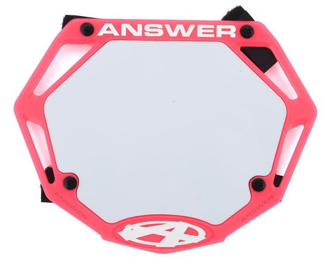 Answer 3D BMX Number Plate (Pink)