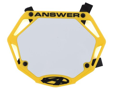 Answer 3D BMX Number Plate (Yellow) (Mini)