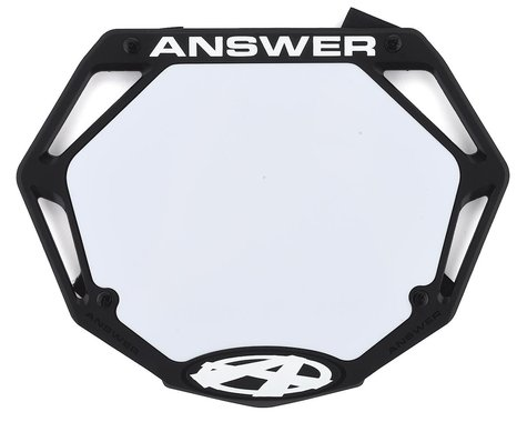 Answer 3D BMX Number Plate (Black) (Pro)