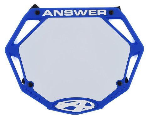 Answer 3D BMX Number Plate (Blue) (Pro)