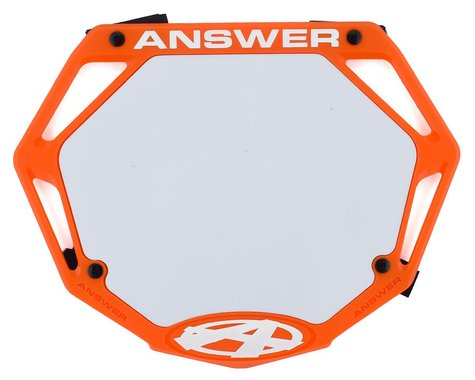 Answer 3D BMX Number Plate (Orange) (Pro)