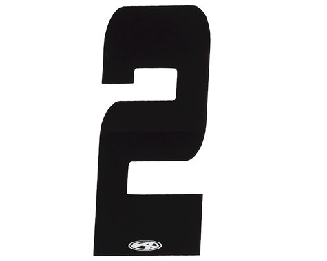"Answer 3"" Number Plate Stickers (Black) (2)"