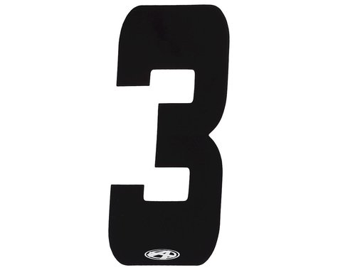 "Answer 2"" Number Plate Stickers (Black) (3)"