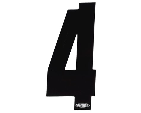"Answer 3"" Number Plate Stickers (Black) (4)"