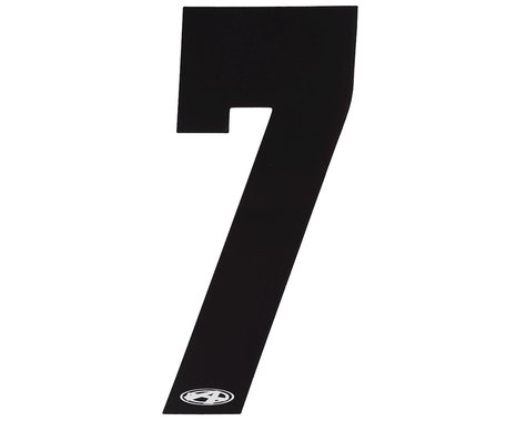 """Answer 4"""" Number Plate Stickers (Black) (7)"""