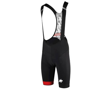 Assos Men's T.equipe Evo Cycling Bib Shorts (National Red) (S)