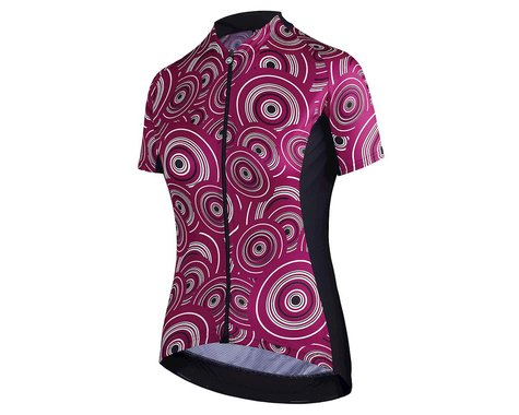 Assos Women's UMA GT Short Sleeve Jersey (Camou Midnight Purple) (M)