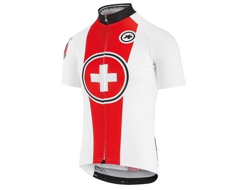Assos Men's Suisse Fed Short Sleeve Jersey (Red/White) (L)
