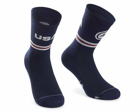 Assos USA Cycling Socks (Blue) (M)