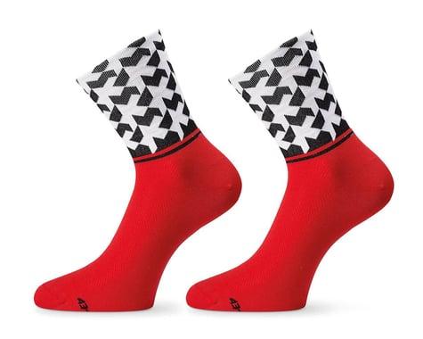 Assos Monogram Sock Evo8 (National Red) (M)