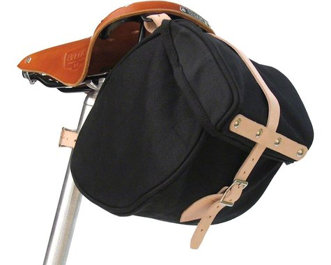 Banjo Brothers Minnehaha Canvas Saddle Bag (Black) (S)