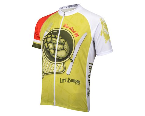 Belch Lift Bridge Hop Dish Short Sleeve Jersey (Green/White)