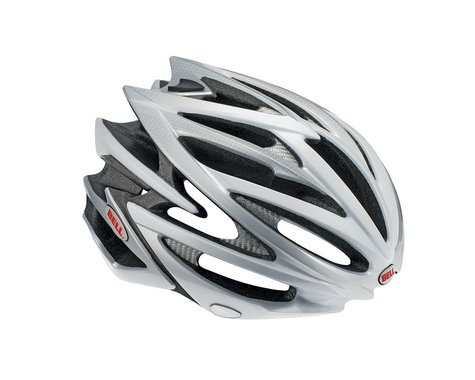Bell Volt Race Helmet - Closeout! (Red/White) (Large)