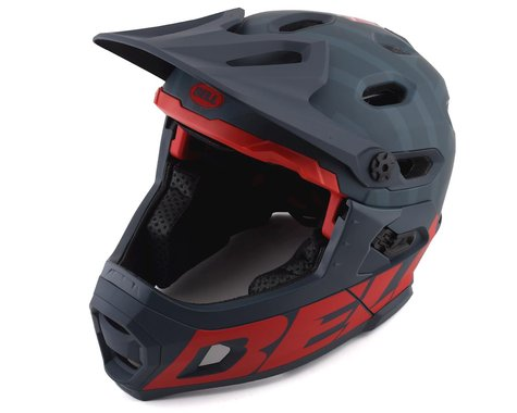 Bell Super DH MIPS Helmet (Matte Blue/Crimson) (M)